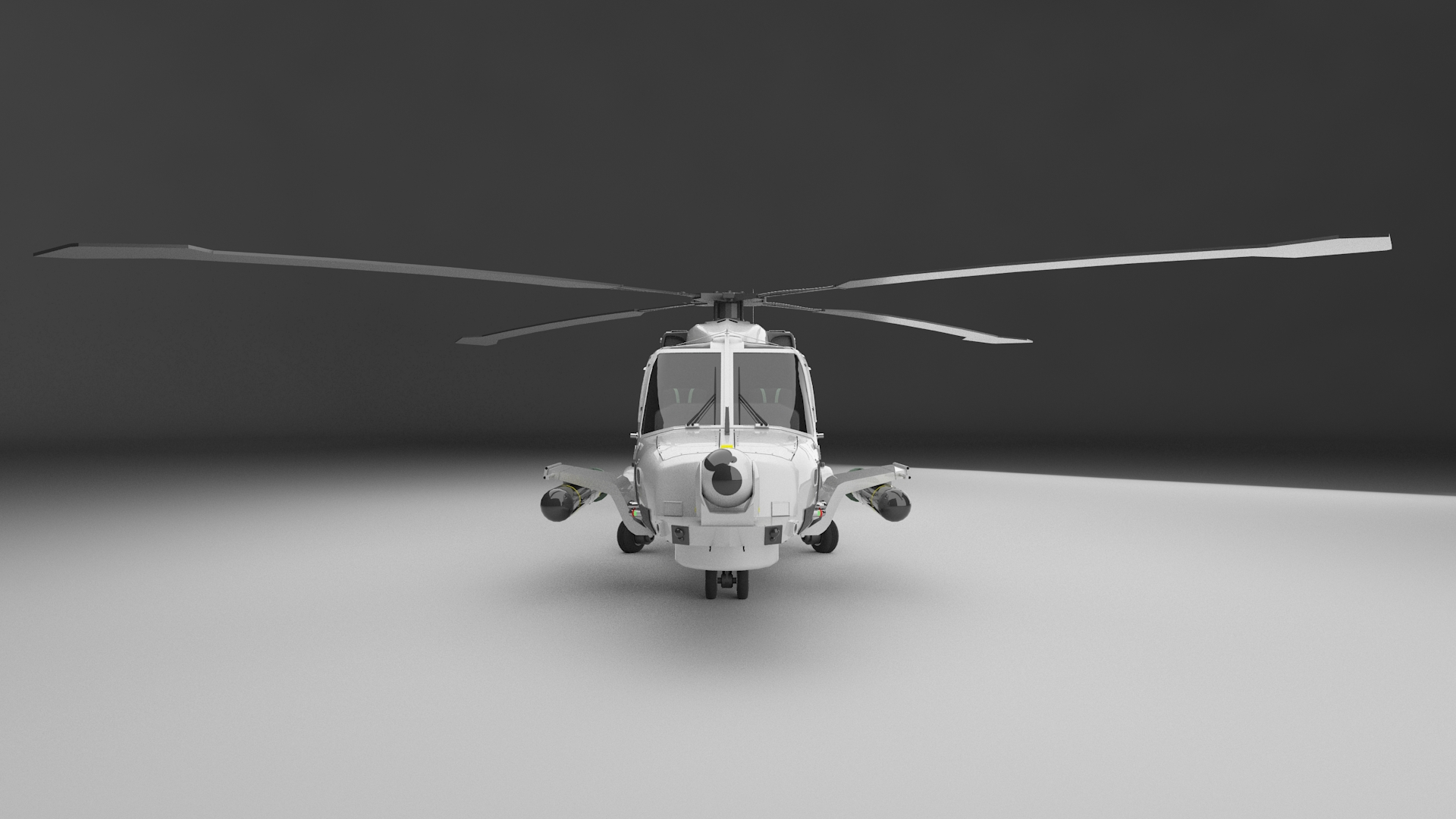 helicopter as seen in Olive Learning's serious gaming powered by Oculus Rift