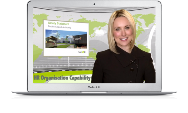 dublin airport authority elearning content on desktop
