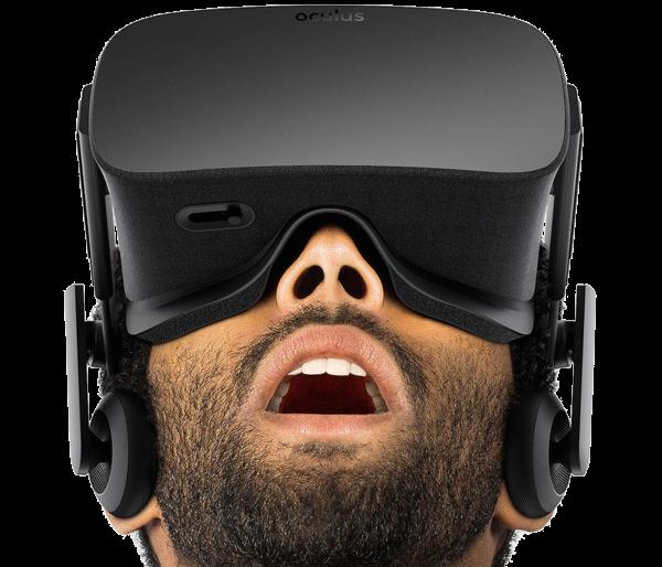man's reaction to Oculus Rift training