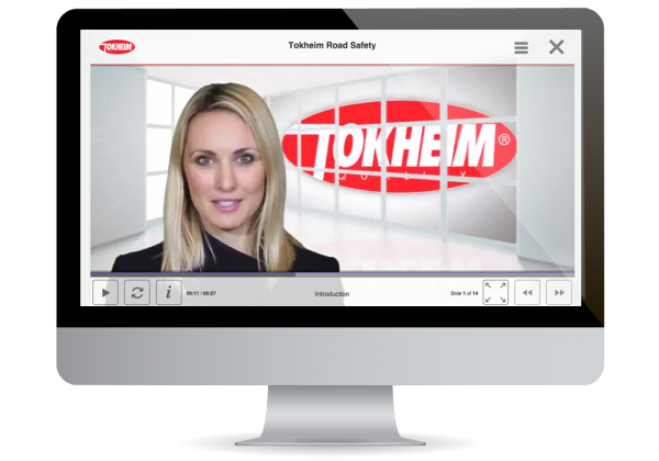 Tokheim elearning road safety course on desktop